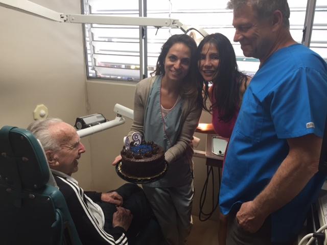 Celebrating Leonard Wolfe's 99th birthday .